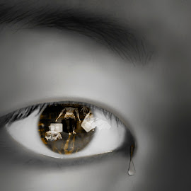 their here by Dietmar Kuhn - Digital Art People ( abstract, smooth, sharp, tear, eye )