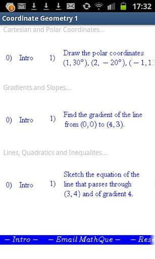 Coordinate Geometry Practice
