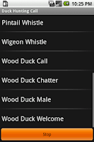 Screenshot of Duck Hunting Call