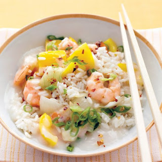 Asian Shrimp Stew with Steamed Rice