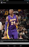 Screenshot of NBA app