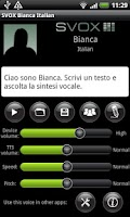 Screenshot of SVOX Italian Bianca Trial