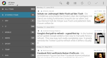 Screenshot of Feedly extension for News+