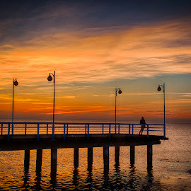 Sunset at the pier by John Einar Sandvand - Buildings & Architecture Other Exteriors