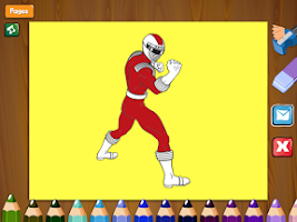 Screenshot of Paint Power Rangers