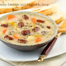 Creamy Sausage Vegetable Soup