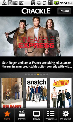 crackle-movies-tv for android screenshot