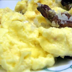 Creamy Scrambled Eggs With Diced Bacon