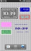 Screenshot of シンプル時計ウィジェット