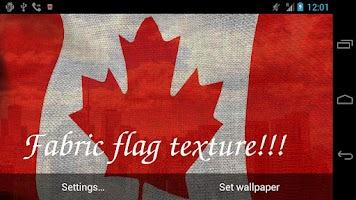 Screenshot of 3D Canada Flag Live Wallpaper+