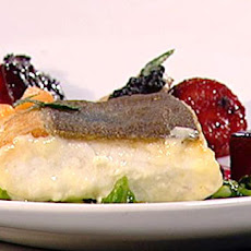 Halibut Served With Beetroot Textures