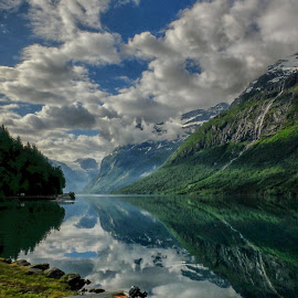 Lake Loen by Elyse Chin - Novices Only Landscapes ( reflection, lake, norway )