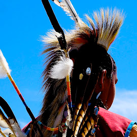 Pow Wow Idaho by Barbara Brock - People Musicians & Entertainers ( american indian, pow wow, american indian headdress, native american )