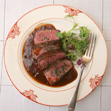 Peppercorn Crusted Filet Mignon With Balsamic Red Wine ...