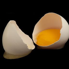 Broken Egg by Sam Alexander - Food & Drink Cooking & Baking ( egg )