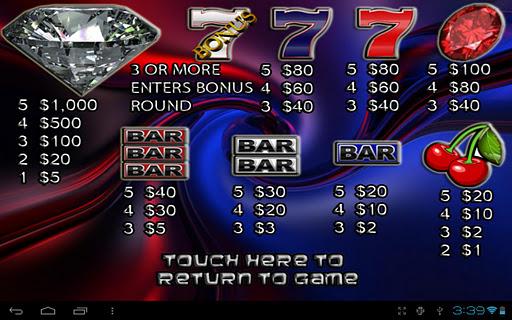 7S & BAR Vegas Slot Machine - screenshot