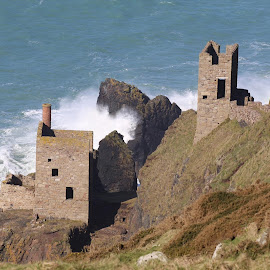 Tin Mine Engine Houses, Cornwall by Jess Glass - Buildings & Architecture Public & Historical