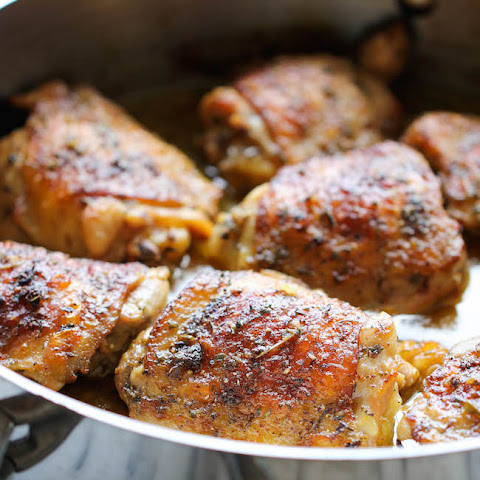 Pan-Seared Chicken Thighs With Beer And Grainy Mustard Sauce Recipes ...