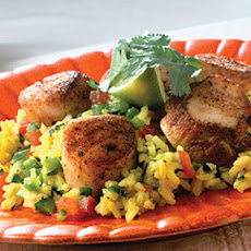 Cumin Scallops On Fiesta Rice