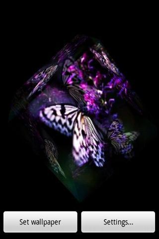 3D蝶と花