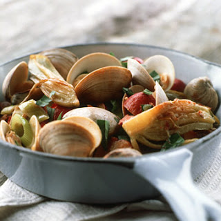 Clam Pan Roast with Sausage and Fennel