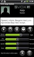Screenshot of SVOX Russian Katja Voice