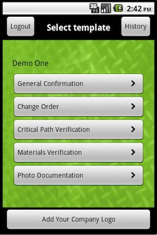 iConfirm: Change Order App.