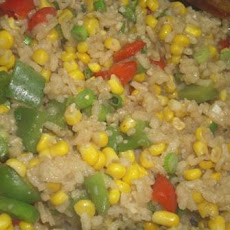 Southwestern Risotto With Corn and Roasted Red Pepper
