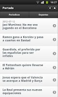 Screenshot of Noticias Deportivas (España)