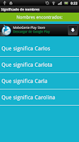 Screenshot of Significado de los nombres