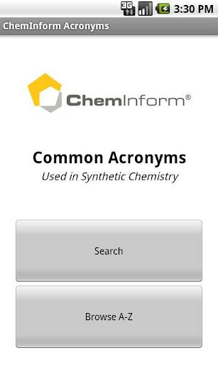 ChemInform Acronyms