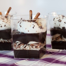 Chocolate Banana and Pretzel Parfaits