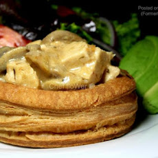 Chicken Avocado and Mushroom Vol-Au-Vents