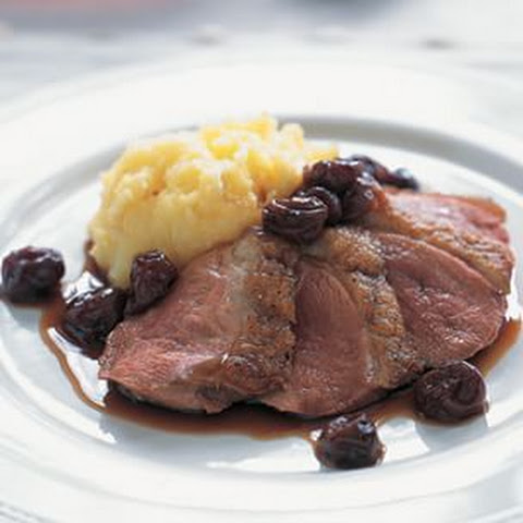 Seared Duck Breasts with Cherry-Port Sauce