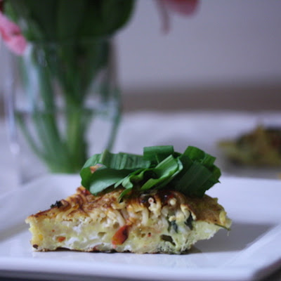 Spaghetti Frittata with Ramps