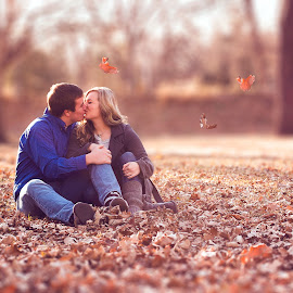 Fall love by Mason Bletscher - People Couples ( kissing, lovers, leaves, people, women, love, girl, autumn, fall, couple, men, boy, kis, man,  )