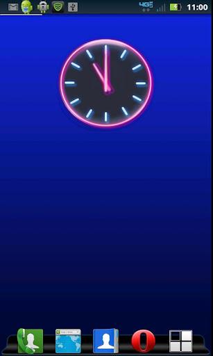 Neon Pink Clock