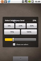 Screenshot of Brightness Level