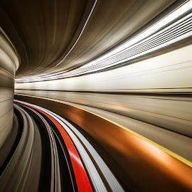 Tacoma by Kim Erlandsen - Abstract Light Painting ( subway, seattle, tunnell, longshutter, tacoma )