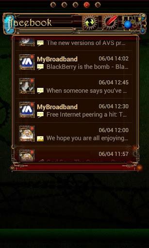 Steampunk Facebook GO Widget
