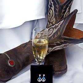Accessorizing by Diana Lehmann - Wedding Other ( champagne, joy, still life, wedding, fun, accessories, bride, boots,  )