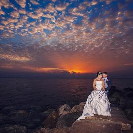 On the clouds of love by Mandy Christodoulou - Wedding Bride & Groom ( cyprus couple, cyprus wedding photographer, cyprus bride and groom, weddings in cyprus, cyprus wedding )