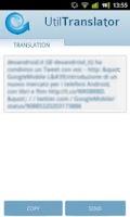Screenshot of UtilTranslator
