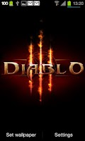 Screenshot of Diablo 3 Fire Live Wallpaper