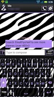 Screenshot of Cute PurpleZebra Keyboard Skin