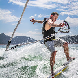 Wake Surfing by Casey Green - Sports & Fitness Surfing ( shasta lake, wake surfing, wakeboard, nor cal )