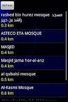 Screenshot of Nearest Masjid (Mosque)
