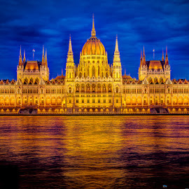 Hungarian Parliament in Budapest by Matthew Haines - Buildings & Architecture Public & Historical