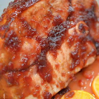 Cranberry Orange Glazed Ham