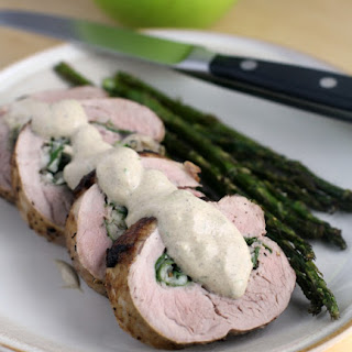 Healthy Apple Fennel Stuffed Pork with Irish Whiskey Sauce